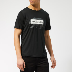 Columbia Men's Box Logo Bear Short Sleeve T-Shirt - Black