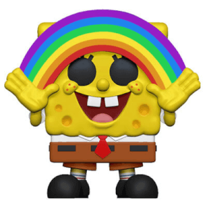 SpongeBob S3 - Spongebob with Rainbow Animation Pop! Vinyl Figure