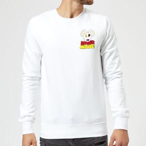 Danger Mouse Pocket Logo Sweatshirt - White
