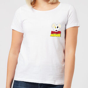 Danger Mouse Pocket Logo Women's T-Shirt - White