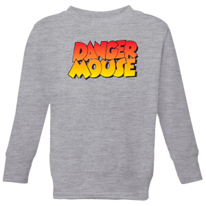 Danger Mouse Colour Logo Kids' Sweatshirt - Grey