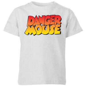Danger Mouse Colour Logo Kids' T-Shirt - Grey