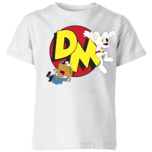Danger Mouse Run! Kinder T-Shirt - Weiß