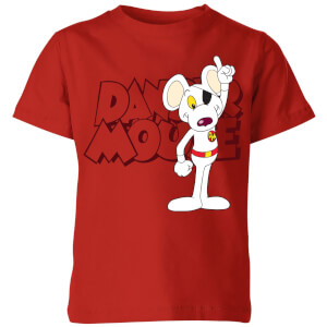 Danger Mouse Pose Kinder T-Shirt - Rot
