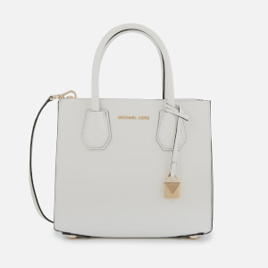 453f93b94bda MICHAEL MICHAEL KORS Women's Mercer Medium Acordian Messenger Bag - Optic  White