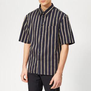 Lanvin Men's Oversized Short Sleeve Shirt - Navy Blue