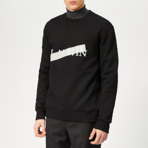 Lanvin Men's Lanvin Barre Print Sweatshirt - Black
