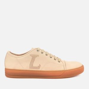 Lanvin Men's Perforated L Low Top Sneakers - Light Beige