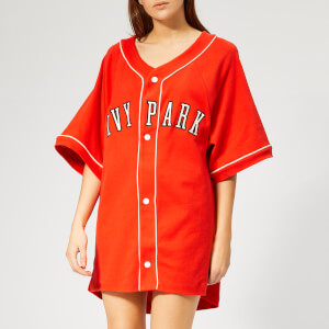Ivy Park Women's Baseball Logo Oversized T-Shirt - Fiery Red