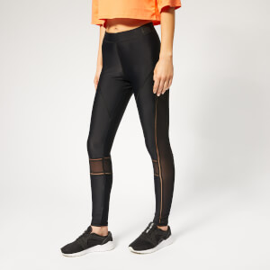 Ivy Park Women's Acitve Mesh Panel Leggings - High Rise - Black