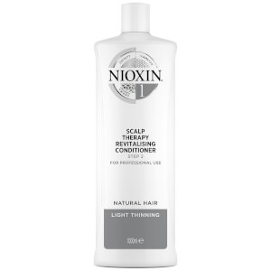 NIOXIN 3-Part System 1 Scalp Therapy Revitalizing Conditioner for Natural Hair with Light Thinning 1000ml