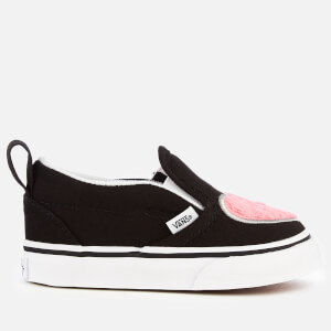41050d642b Vans Toddlers  Fur Heart Slip-On Trainers - Strawberry Pink Black