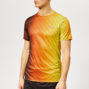 Superdry Sport Men's Active All Over Print T-Shirt - Fluro Orange Ombre