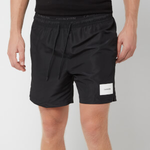 Calvin Klein Men's Medium Double Waistband Swim Shorts - Black