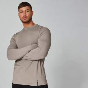 Myprotein Luxe Classic Long Sleeve Crew T-Shirt - Quarry