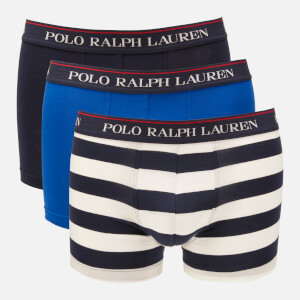 8a9dc21faf2c8b Polo Ralph Lauren Men s 3 Pack Classic Trunk Boxer Shorts - Cruise  Navy Sapphire Star