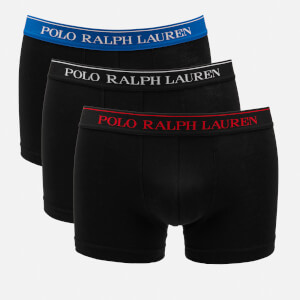 Polo Ralph Lauren Men's 3 Pack Classic Trunk Boxer Shorts - Black/Red/Sapphire
