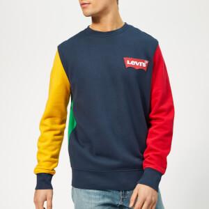 Levi's Men's Modern Crew Sweatshirt - Old Gold/Dress Blues