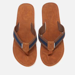 Superdry Men's Cove 2.0 Flip Flops - Tan/Brown/Dark Navy