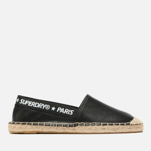Superdry Women's Erin Elastic Espadrilles - Black/Optic
