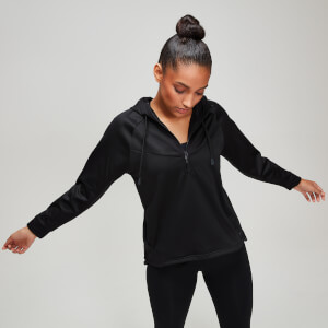 Tech Pull Over Hoodie - Black