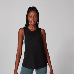Drop Armhole Vest - Black