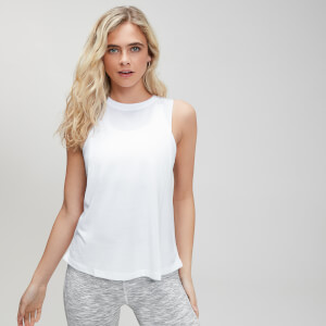 Camiseta sin mangas con sisas caídas Essentials Training para mujer de MP - Blanco