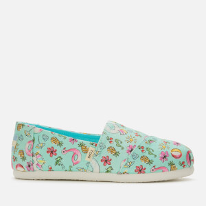 TOMS Kids' Alpargata Vegan Slip-On Pumps - Mint Poolside