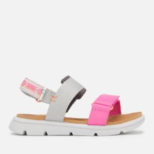 TOMS Toddlers' Ray Vegan Water Resistant Sandals - Grey/Pink