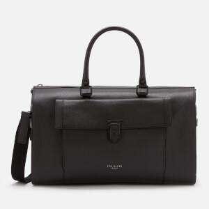 Ted Baker Men s Starmo Coloured Leather Holdall Bag - Black 41ba125450994