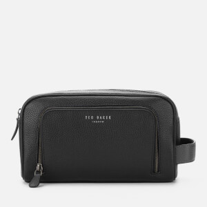 Ted Baker Men's Razor Leather Wash Bag - Black