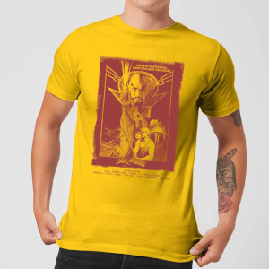 Camiseta Flash Gordon Retro Movie Poster - Hombre - Amarillo