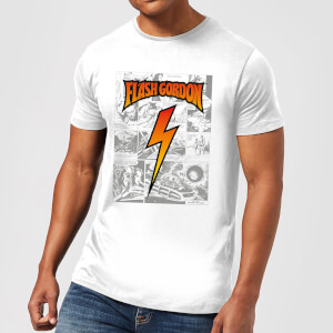 Camiseta Flash Gordon Comic Strip - Hombre - Blanco