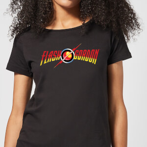 T-Shirt Flash Gordon Movie Logo - Nero - Donna