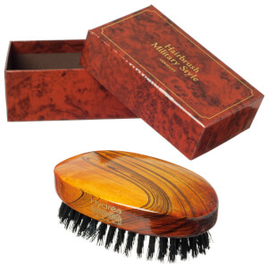 Hydrea London Military Hairbrush Gloss Finish with Pure Black Boar Bristle (Hard Strength) FSC Certified: Image 3