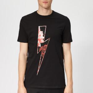 Neil Barrett Men's Floral Thunderbolt T-Shirt - Black/Multi