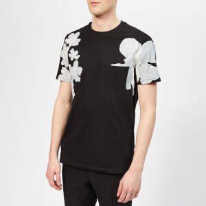 Neil Barrett Men's Shadow Flower T-Shirt - Black/White