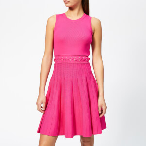 MICHAEL MICHAEL KORS Women's Grommit Lace And Crew Dress - Electric Pink