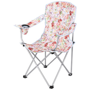 Joules Floral Picnic Chair - White