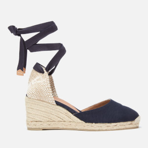 Castañer Women's Carina Espadrille Wedged Sandals - Azul Marino
