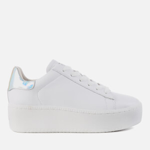 Ash Women's Cult Flatform Trainers - White/Silver