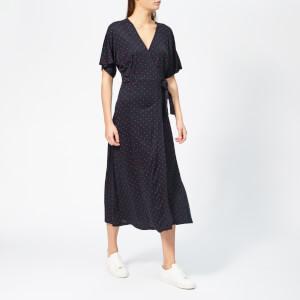 Whistles Women's Spot Wrap Jersey Dress - Navy/Multi