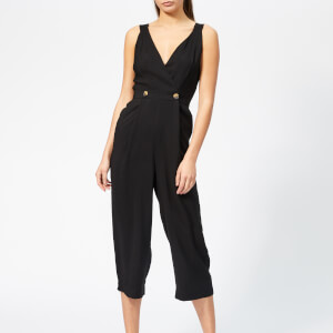 Whistles Women's Lara Button Jumpsuit - Black