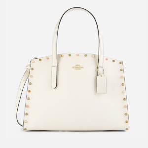 Coach Women's Resin Border Rivets Charlie Carryall - Chalk