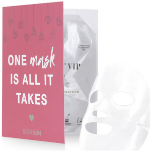 STARSKIN Valentines Day Limited Edition Diamond Mask VIP Illuminating Luxury Bio-Cellulose Face Mask
