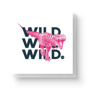Wild Dinosaur Square Greetings Card (14.8cm x 14.8cm)