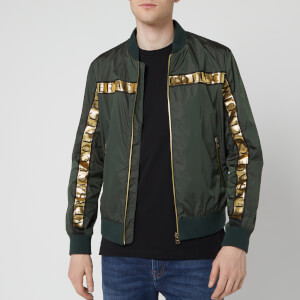Versace Collection Men's Bomber Jacket - Dark Green