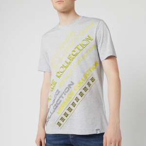 Versace Collection Men's Neon Logo T-Shirt - Grey