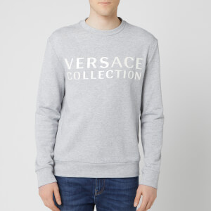 Versace Collection Men's Logo Sweatshirt - Grey