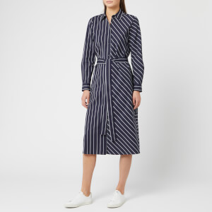 HUGO Women's Elowen Stripe Dress - Navy